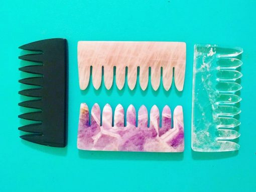 Crystal hair combs exist and they'll seriously up your self-care game